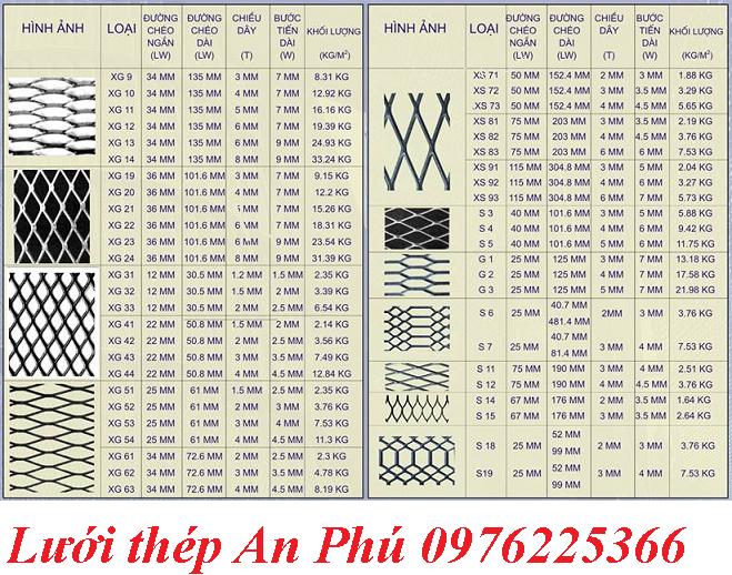 Chuyên sản xuất lưới thép XG, XS, CH, S, G