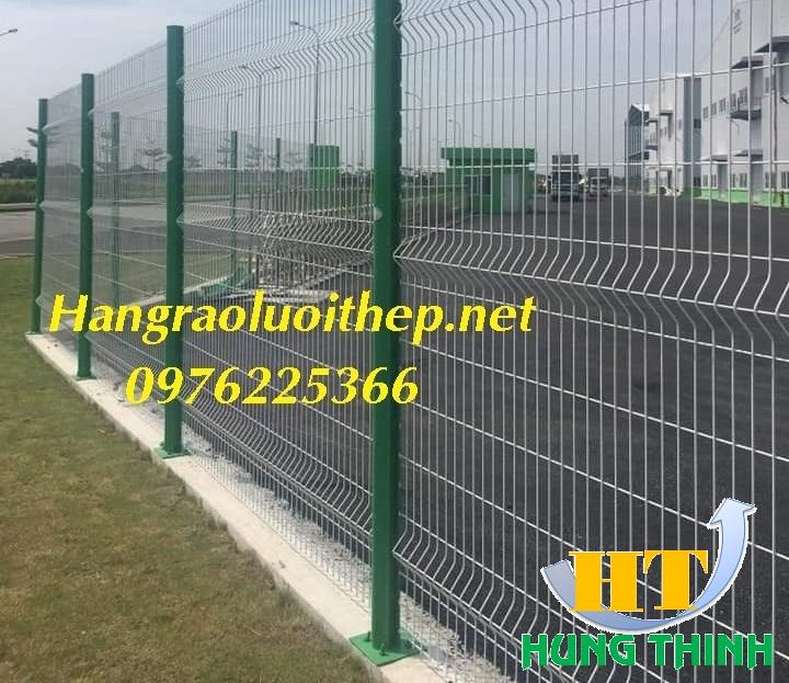 Hàng rào lưới thép D5 a50x200 chấn sóng, gập đầu