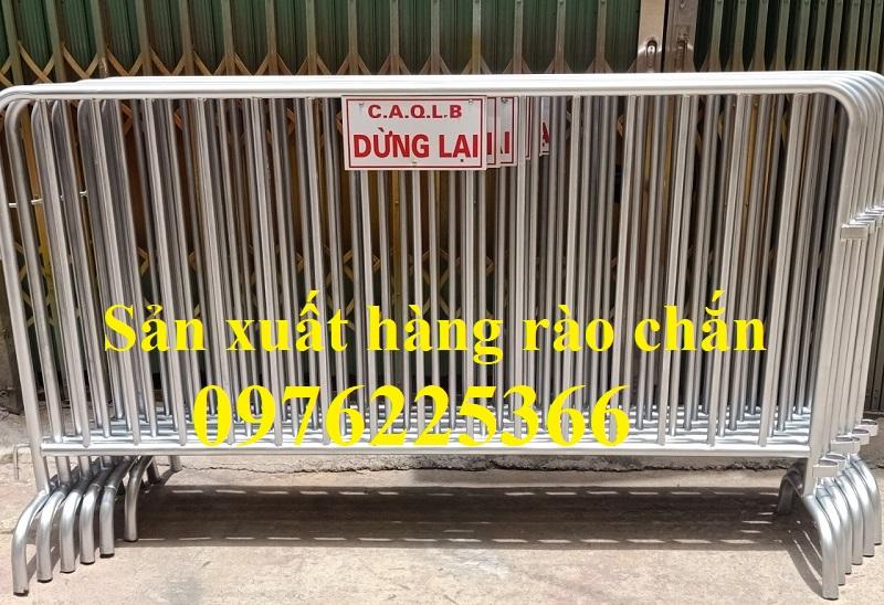 Hàng rào di động mạ kẽm, hàng rào di động sơn màu theo yêu cầu